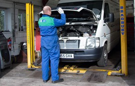 Routine servicing in accordance with manufacturer's guidelines
